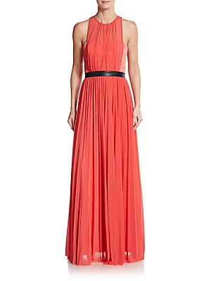 Pleated Sleeveless Gown
