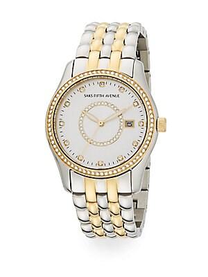 Swarovski Crystal Two-Tone Stainless Steel Bracelet Watch