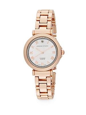 Diamond Rose Goldtone Bracelet Watch