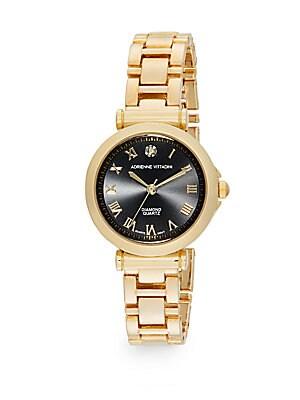 Diamond Goldtone Bracelet Watch