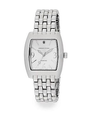 Diamond Silvertone Bracelet Watch