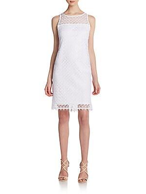Open Lace A-Line Dress