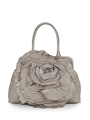 Leather Rosette Satchel
