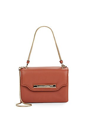 Square Leather Top-Handle Bag