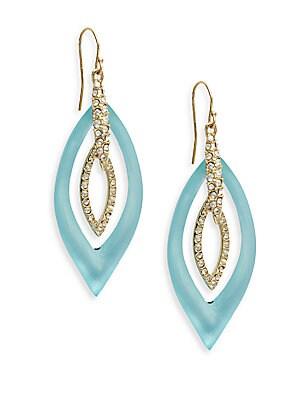 Lucite & Crystal Marquis Orbital Drop Earrings