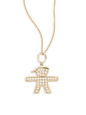 Click here for 14K Yellow Gold Diamond Pendant Necklace prices