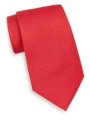 Neat Tonal Diamond Silk Tie