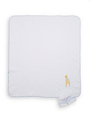 Infant's Giraffe Appliqu? Receiving Blanket & Hat Set
