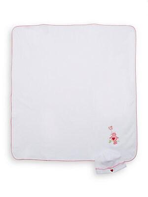 Infant's Bird Appliqu? Receiving Blanket & Hat Set