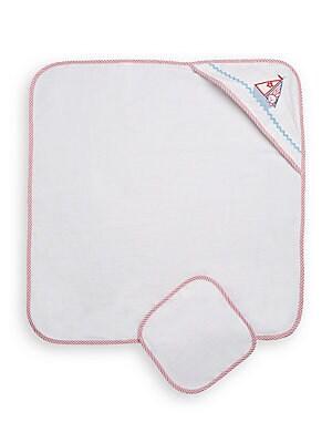 Infant's Sailboat Hooded Towel Set