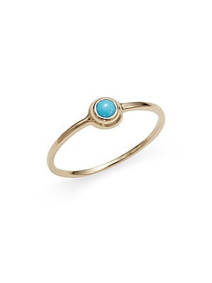 Click here for Classique Turquoise & 14K Yellow Gold Ring prices