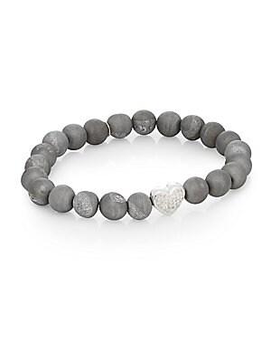 Boheme Druzy Quartz & Sterling Silver Bracelet