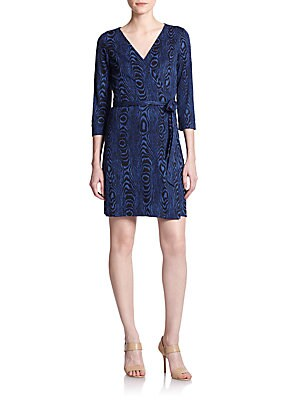 New Julian Two Silk Mini Wrap Dress