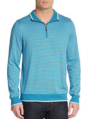 Striped Half-Zip Sweater