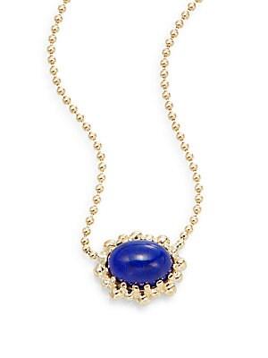 Dew Drop Lapis & 14K Yellow Gold Necklace