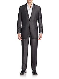 Versace Collection Regular-Fit Striped Wool & Silk Suit
