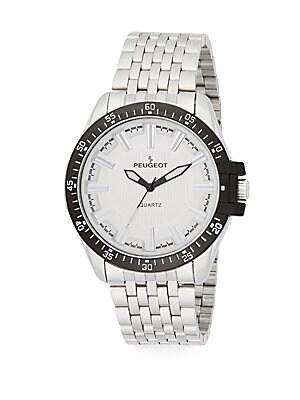 Black & Stainless Steel Bracelet Watch