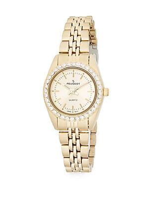 Interchangeable Bezel Goldtone Stainless Steel Bracelet Watch