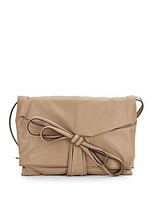 Leather Tie-Bow Clutch