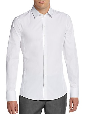 Regular-Fit Stretch-Cotton Sportshirt