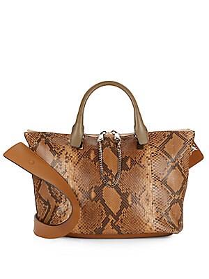 Baylee Medium Python Shoulder Bag
