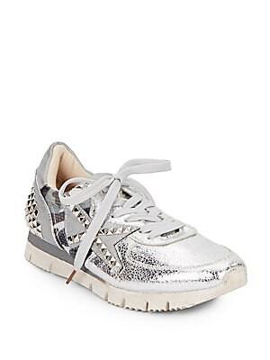 Reamus Studded Metallic Sneakers