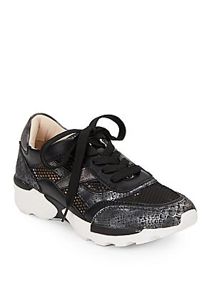 Whippen Snake-Print Sneakers