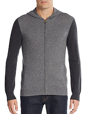 Colorblock Cashmere Hoodie
