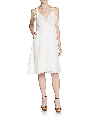 Ivara Linen Wrap Dress