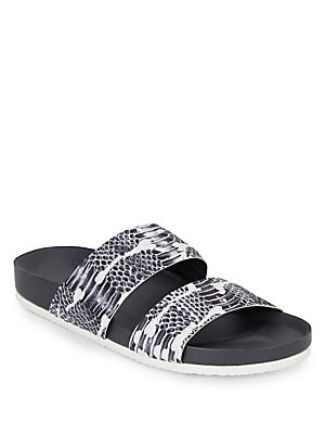 Orion Snake-Print Leather Sandals