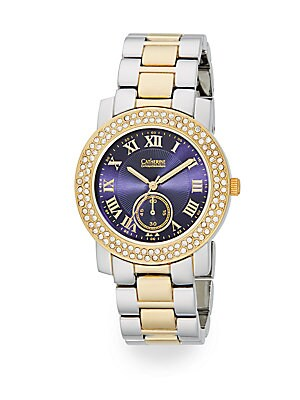 Two-Tone Pavé Bracelet Watch