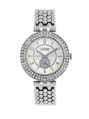 Silvertone Link Bracelet Watch