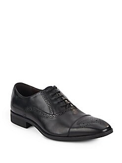 Perforated Leather Oxfords