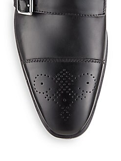 Connery Leather Double Monk-Strap Shoes
