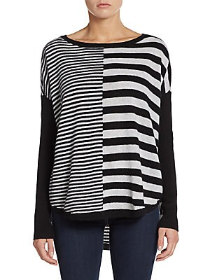 Mixed Stripe Cashmere Sweater
