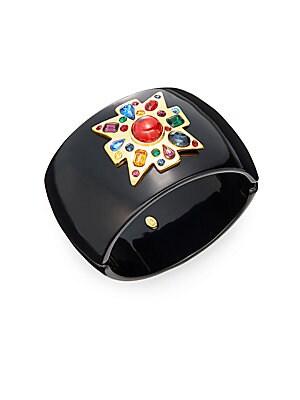 Gemstone Cluster Bangle Bracelet