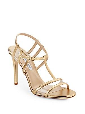 Viola Too Metallic Leather Sandals