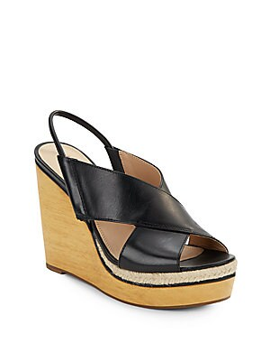 Gladys Leather Wedge Sandals