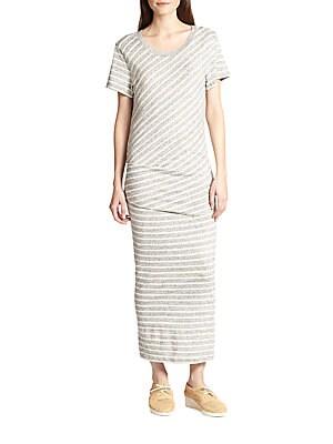Striped Cotton Maxi Dress
