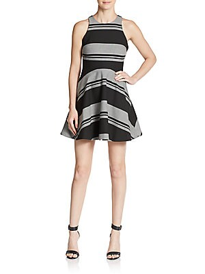 Magdalena Striped Fit-And-Flare Dress