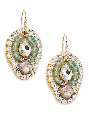Petal Blue Topaz Drop Earrings