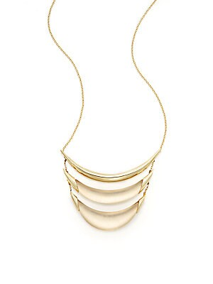 Lucite Tiered Crescent Necklace