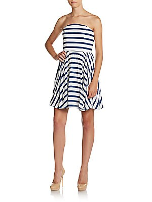 Strapless Stripe Dress