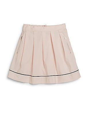 Little Girl's & Girl's Pleated Cotton Skirt