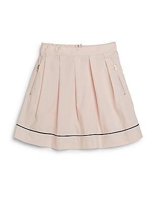 Little Girl's & Girl's Pleated Cotton Skirt