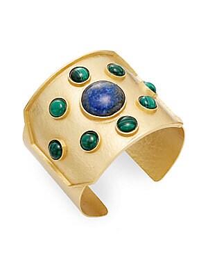 Rejoice Malachite & Blue Lapis Cuff Bracelet