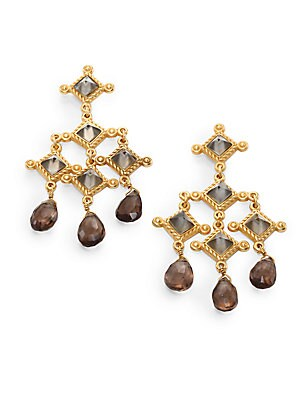 Venetian Smoky Topaz Chandelier Earrings