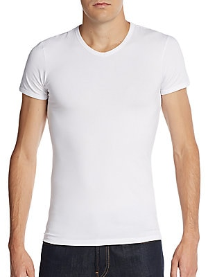 Boxed Cotton Jersey V-Neck Tee