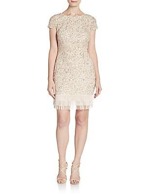 Sequined Fringe Sheath Dress