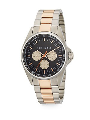 Two-Tone Chronograph Stainless Steel Bracelet Watch